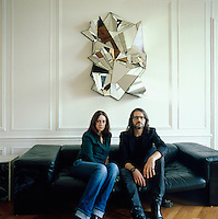 Emmanuel Bossuet, decorative and graphic artist in his Paris studio