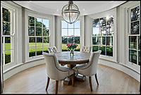 BNPS.co.uk (01202 558833)<br /> Pic: Savills/BNPS<br /> <br /> Three-mendous!<br /> <br /> Classy interiors continue the colonial theme.<br /> <br /> Stunning seaside estate overlooking Sandbanks that wouldn't look out of place in the Hollywood Hills - and you get three properties for your &pound;9 million price tag.<br /> <br /> You get three luxury homes for the price of one with this spectacular private coastal estate - but they will still need deep pockets as the trio of properties are on the market for &pound;8.995m.<br /> <br /> The Mulberry House Estate is in the leafy Canford Cliffs area of Poole, Dorset, and has a grand five-bedroom mansion, a second detached five-bedroom house and a two-bedroom gate house.<br /> <br /> Locals describe the Canford Cliffs area as the 'Hollywood Hills' of the coastal property hotspot, more refined and less showy than the more 'Malibu style' Sandbanks peninsula that it overlooks.<br /> <br /> Offering beautiful views but with privacy and seclusion, and without the tourist crowds that the Sandbanks millionaire's enclave attracts.<br /> <br /> Estate agent Savills say the sale is a &quot;unique opportunity&quot; as the 2.2 acre Mulberry property is the only private estate in the area.