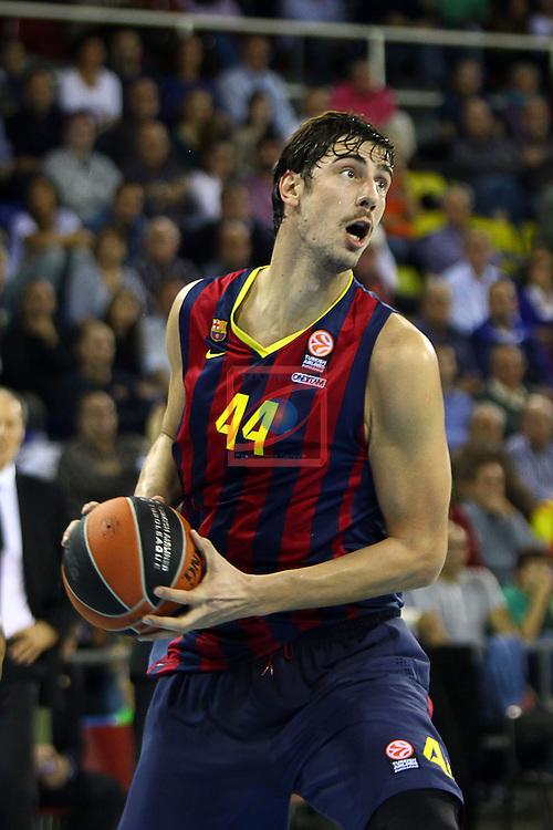 Euroleague Basketball-Regular Season Round 5.<br /> FC Barcelona vs Panathinaikos Athens: 78-69.<br /> Ante Tomic.
