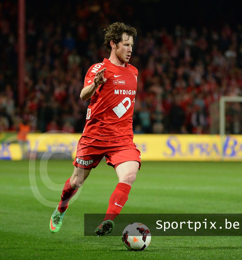 KV Kortrijk - Cercle Brugge : Thomas Matton<br /> foto VDB / BART VANDENBROUCKE