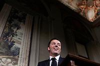 20140221 ROMA-POLITICA: RENZI COMUNICA LA LISTA DEI MINISTRI