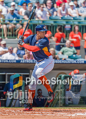 20 March 2015: Houston Astros outfielder George Springer in Spring Training action against the Washington Nationals at Osceola County Stadium in Kissimmee, Florida. The Astros fell to the Nationals 7-5 in Grapefruit League play. Mandatory Credit: Ed Wolfstein Photo *** RAW (NEF) Image File Available ***