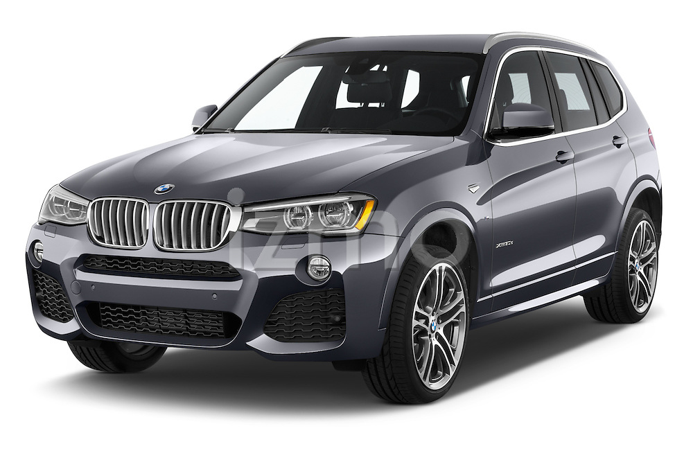 2016 BMW X3 xDrive28d 5 Door SUV Angular Front stock photos of front three quarter view