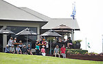 Spectators enjoy the action. Jennian Homes Charles Tour, Carrus Open, Tauranga Golf Club, Tauranga, New Zealand, Thursday 10 October 2019. Photo John Borren/www.bwmedia.co.nz