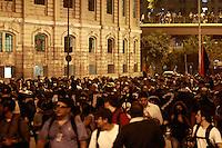 SAO PAULO, SP, 01.08.2013 MANIFESTAÇÃO AMARILDO / FORA ALCKEMIN - Manifestantes saem em caminhada da frente da prefeitura de São Paulo Sentido Av Paulista durande o ato contra o governador Geraldo Alckemin e em apoio ao Rio de Janeiro com o desaparecimento do Pedreiro Amarildo na noite dessa quinta-feira (1)  (Foto: Marcelo Brammer / Brazil Photo Press)