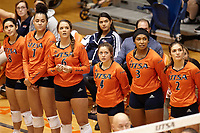 SAN ANTONIO, TX - SEPTEMBER 14, 2018: The University of Texas at San Antonio Roadrunners fall to the Baylor University Bears 3-2 (21-25, 25-20, 28-26, 20-25, 9-15) at the UTSA Convocation Center. (Photo by Jeff Huehn)