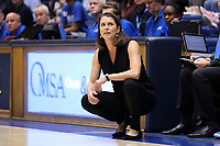 DURHAM, NC - NOVEMBER 29: Head coach Joanne P. McCallie of Duke University during a game between Penn and Duke at Cameron Indoor Stadium on November 29, 2019 in Durham, North Carolina.
