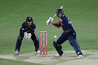 Ryan ten Doeschate in batting action for Essex as Sam Billings looks on from behind the stumps during Kent Spitfires vs Essex Eagles, Vitality Blast T20 Cricket at the St Lawrence Ground on 2nd August 2018