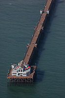 aerial photograph Oceanside Pier, Oceanside, San Diego County, California