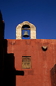 Arequipa, Peru. Bell on top of building; Santa Catalina Monastery.