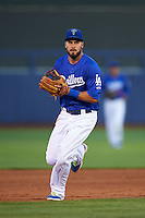 Tulsa Drillers shortstop Luis Mateo (3) during a game against the Midland RockHounds on June 2, 2015 at Oneok Field in Tulsa, Oklahoma.  Midland defeated Tulsa 6-5.  (Mike Janes/Four Seam Images)