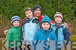 Attending Listowel coursing on Sunday last were Cian Carey, Ben Carey, Darragh Browne, Georgie O'Donnell and Padraigh O'Donnell at the back.