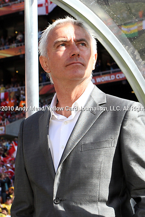 14 JUN 2010:  Netherlands head coach Bert van Marwijk (NED).  The Netherlands National Team defeated the Denmark National Team 2-0 at Soccer City Stadium in Johannesburg, South Africa in a 2010 FIFA World Cup Group E match.
