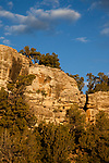 An 800-year old Ancestral Puebloan storage granary on a cliff near Blanding in southeastern Utah in the United States.