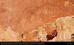Fremont Culture Petroglyphs, Anthropomorphs and Spirit Figures, Bighorn Sheep and other Zoomorphs, Fruita Petroglyph Panels, Capitol Reef National Park, South-Central Utah