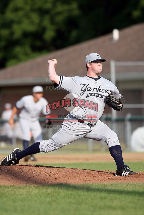 July 5th 2008:  Pitcher Nick Montgomery of the Staten Island Yankees, Class-A affiliate of the NY Yankees, during a game at Falcon Park in Auburn, NY.  Photo by:  Mike Janes/Four Seam Images