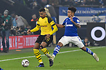 08.12.2018, Veltins-Arena, Gelsenkirchen, GER, 1. FBL, FC Schalke 04 vs. Borussia Dortmund, DFL regulations prohibit any use of photographs as image sequences and/or quasi-video<br /> <br /> im Bild v. li. im Zweikampf Manuel Akanji (#16, Borussia Dortmund) Weston McKennie (#2, FC Schalke 04) <br /> <br /> Foto © nordphoto/Mauelshagen