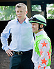 Jon Court and Ron Moquett before The Delaware Oaks (gr 2) at Delaware Park on 7/14/12