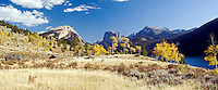 Panorama, fall colors, Green River Lake, Wind River Mountains, Pinedale, Wyoming