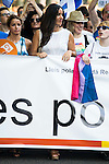 Begoña Villacis of Ciudadanos with the banner at protest Madrid Pride 2016. July 02. 2016. (ALTERPHOTOS/Borja B.Hojas)
