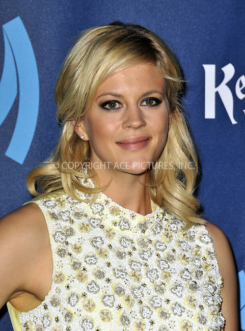 WWW.ACEPIXS.COM......April 20, 2013, Los Angeles, CA.....Georgia King arriving at the 24th Annual GLAAD Media Awards held at the JW Marriott Los Angeles at L.A. LIVE on April 20, 2013 in Los Angeles, California. ..........By Line: Peter West/ACE Pictures....ACE Pictures, Inc..Tel: 646 769 0430..Email: info@acepixs.com