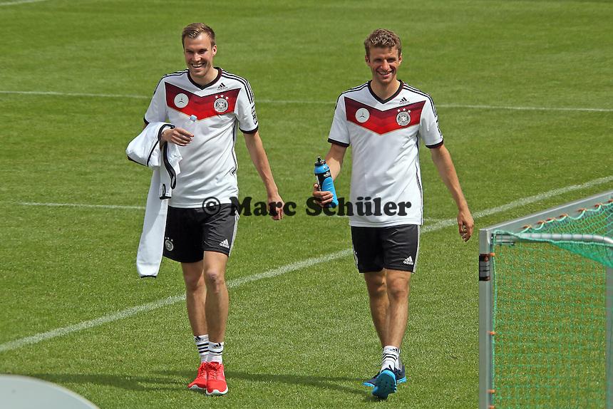 Kevin Großkreutz und Thomas Müller - Abschlusstraining der Deutschen Nationalmannschaft gegen die U20 im Rahmen der WM-Vorbereitung in St. Martin