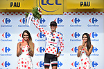 Warren Barguil (FRA) Team Sunweb retains the Polka Dot Jersey at the end of Stage 11 of the 104th edition of the Tour de France 2017, running 203.5km from Eymet to Pau, France. 12th July 2017.<br /> Picture: ASO/Pauline Ballet | Cyclefile<br /> <br /> <br /> All photos usage must carry mandatory copyright credit (&copy; Cyclefile | ASO/Pauline Ballet)