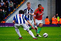 Saturday, 9 March 2013<br /> <br /> Pictured: Wayne Routledge of Swansea City<br /> <br /> Re: Barclays Premier League West Bromich Albion v Swansea City FC  at the Hawthorns, Birmingham, West Midlands