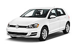 2017 Volkswagen Golf S 5 Door Hatchback Angular Front stock photos of front three quarter view