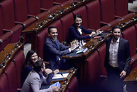 Roma, 30 Aprile 2015<br /> Gli scranni del Movimento 5 Stelle, Luigi Di Maio<br /> Votata le seconda fiducia alla Legge elettorale