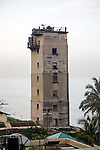 Military tower viewpoint on coast in Colombo, Sri Lanka, Asia