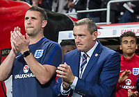 England U21 Head Coach (Manager) Aidy Boothroyd (right) ahead of the FIFA World Cup qualifying match between England and Slovakia at Wembley Stadium, London, England on 4 September 2017. Photo by PRiME Media Images.