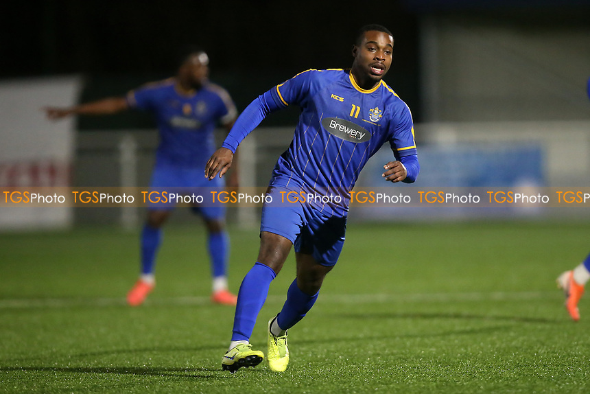 Mekhi Leacock McLeod during Romford vs Brentwood Town, BetVictor League North Division Football at Parkside on 11th February 2020