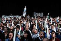 Milano: sostenitori del PDL al Palasharp per la campagna elettorale per l'elezione del sindaco di Milano.