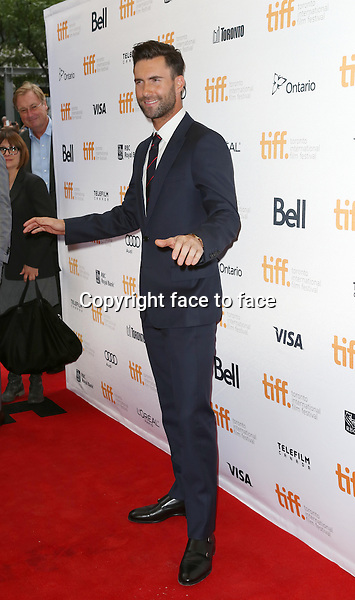 Adam Levine attending the 2013 Tiff Film Festival Red Carpet for &quot;Can A Song Save Your Life?&quot; at The Princess of Wales Theatre on September 7, 2013 in Toronto, Canada.<br />