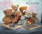 Interlitho, Alberto, CUTE ANIMALS, teddies, photos, 7 teddies, pencils(KL15980,#AC#)