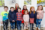 Odhrain Buckley, Alex Behan, Ryan Fields, Lís Ferriter, Isabelle Buckley, Ella Ferriter, Evie Fields and Siabh Buckley attending the panto Aladdin in Siamse Tire on Sunday night.