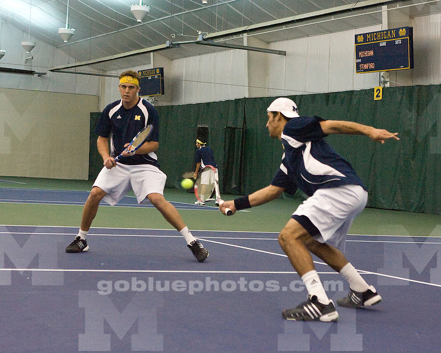 University of Michigan Men's Tennis 5 -2 loss to Stanford University at the Varsity Tennis Center on 3/25/2010.