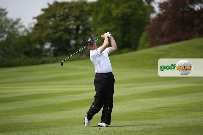 David Higgins (IRL) playing down the 4th during Round One of the 2016 Dubai Duty Free Irish Open Hosted by The Rory Foundation which is played at the K Club Golf Resort, Straffan, Co. Kildare, Ireland. 19/05/2016. Picture Golffile | David Lloyd.<br /> <br /> All photo usage must display a mandatory copyright credit as: &copy; Golffile | David Lloyd.