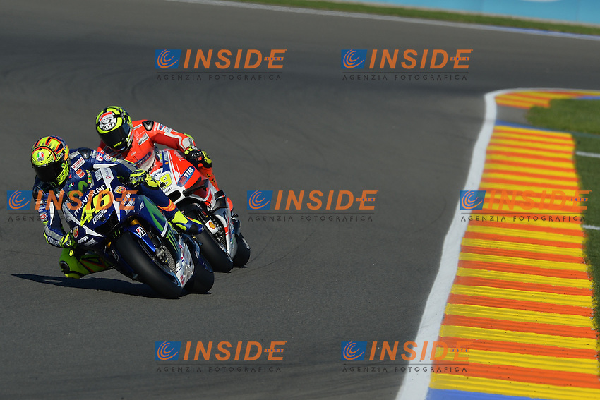 Valencia (Spagna) 07-11-2015 - qualifiche Moto GP / foto Luca Gambuti/Image Sport/Insidefoto<br /> nella foto: Valentino Rossi-Andrea Iannone