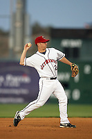 April 17, 2010: Brandon Wikoff of the Lancaster JetHawks during game against the Rancho Cucamonga Quakes at Clear Channel Stadium in Lancaster,CA.  Photo by Larry Goren/Four Seam Images