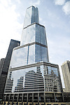 The Trump International Hotel and Tower in Chicago, Illinois.