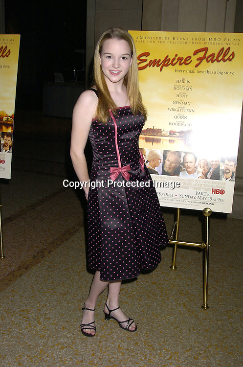 "Kay Panabaker of Summerland..at a screening of an HBO Film ""Empire Falls"" on ..May 9, 2005 at the Metropolitan Museum of Art. ..Photo by Robin Platzer, Twin Images"