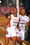 11 MAR 2016:  Aldrich Bailey jr. of the University of Texas and Kyle Collins of Texas Tech University compete in the 400m Dash during the Division I Men's Indoor Track & Field Championship held at the Birmingham Crossplex in Birmingham, Al. Tom Ewart/NCAA Photos