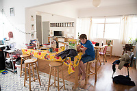 Felix the day of the move. Family adapting to new surroundings after having to move post-earthquake from our damaged apartment to one we soold the day before the earthquake struck. Medellin, Roma Sur, CDMX