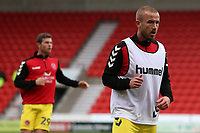 Fleetwood Town's Paddy Madden during the pre-match warm-up <br /> <br /> Photographer David Shipman/CameraSport<br /> <br /> The EFL Sky Bet League One - Doncaster Rovers v Fleetwood Town - Saturday 6th October 2018 - Keepmoat Stadium - Doncaster<br /> <br /> World Copyright © 2018 CameraSport. All rights reserved. 43 Linden Ave. Countesthorpe. Leicester. England. LE8 5PG - Tel: +44 (0) 116 277 4147 - admin@camerasport.com - www.camerasport.com