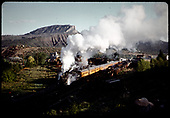 D&amp;RGW #483 K-36 - RMRRC excursion from Durango to Chama 5-30-66. Train leaving south yards at Durango.<br /> D&amp;RGW  Durango, CO  5/30/1966