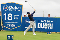Brandon Stone (RSA) on the 18th teeduring the 3rd round of the Dubai Duty Free Irish Open, Lahinch Golf Club, Lahinch, Co. Clare, Ireland. 06/07/2019<br /> Picture: Golffile | Thos Caffrey<br /> <br /> <br /> All photo usage must carry mandatory copyright credit (© Golffile | Thos Caffrey)