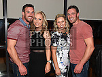 Twins Thomas and Stephen McDowell celebrating their 30th birthday in Brú with girlfriends Ellen Hanan and Shaundelle Marks. Photo:Colin Bell/pressphotos.ie