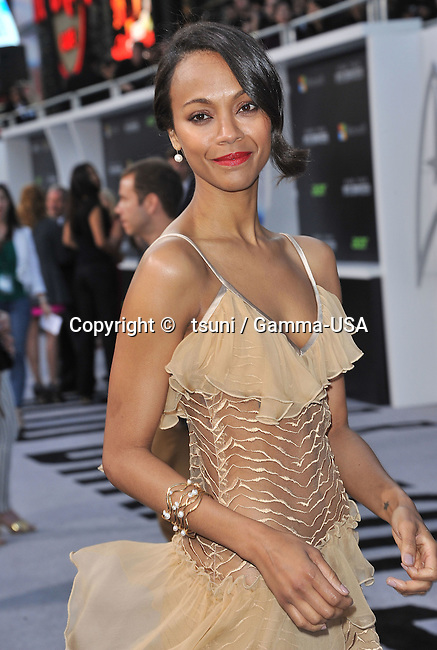 Zoe Saldana arriving at Star Trek Into Darkness Premiere at the Dolby Theatre in Los Angeles.